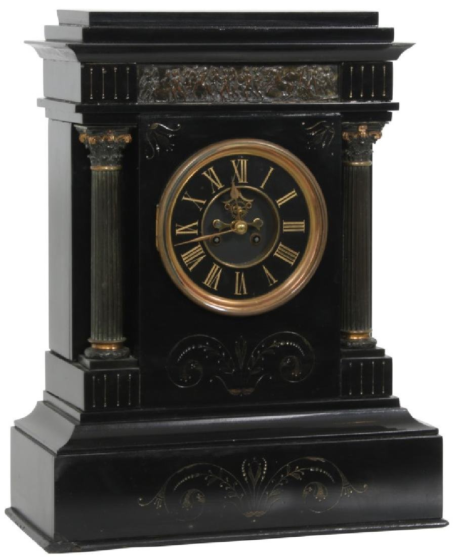 Large Slate French Mantle Clock
