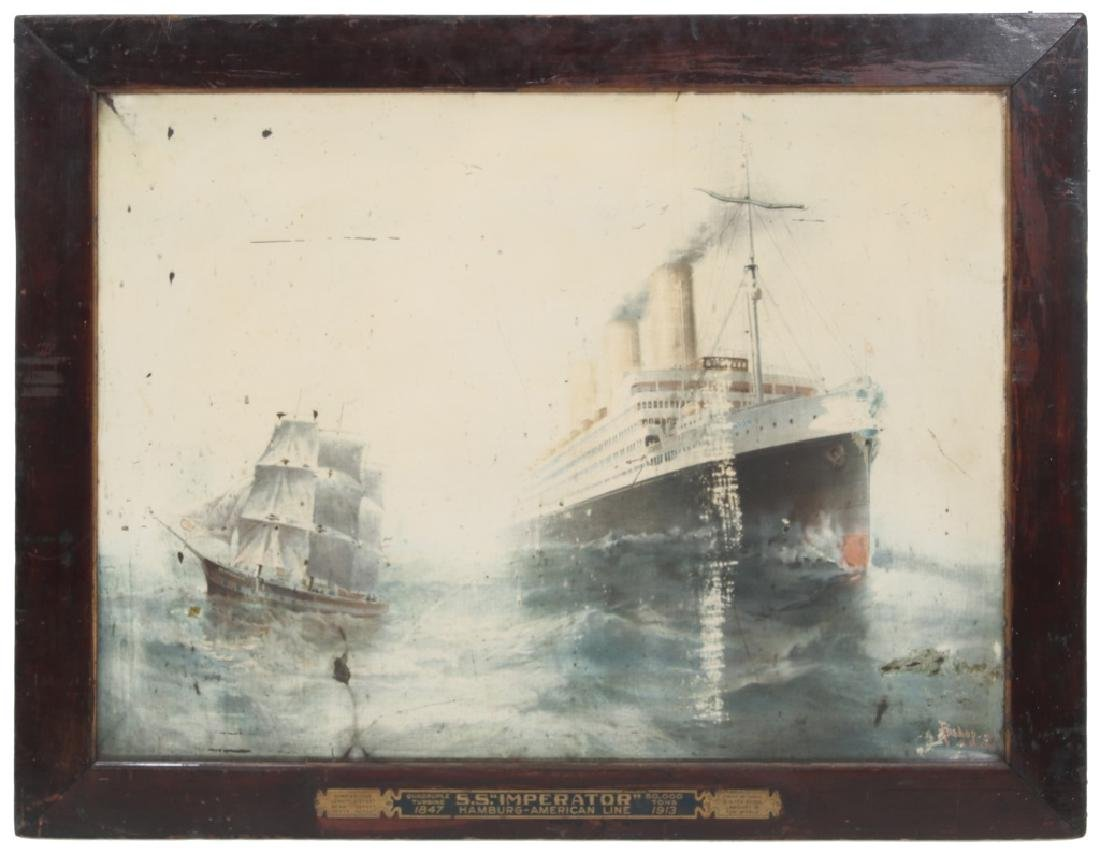 S.S. Imperator, Lithograph on Tin