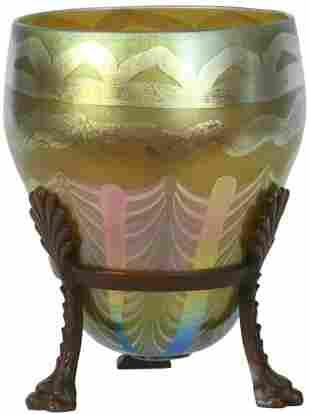 Rare Tiffany Studios Decorated Vase