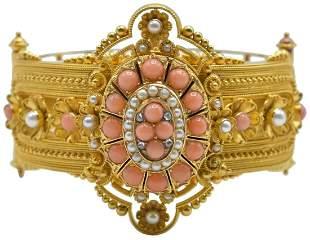 18K Yellow Gold Victorian Revival Bracelet