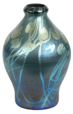 Tiffany Studios Blue Millefiori Vase