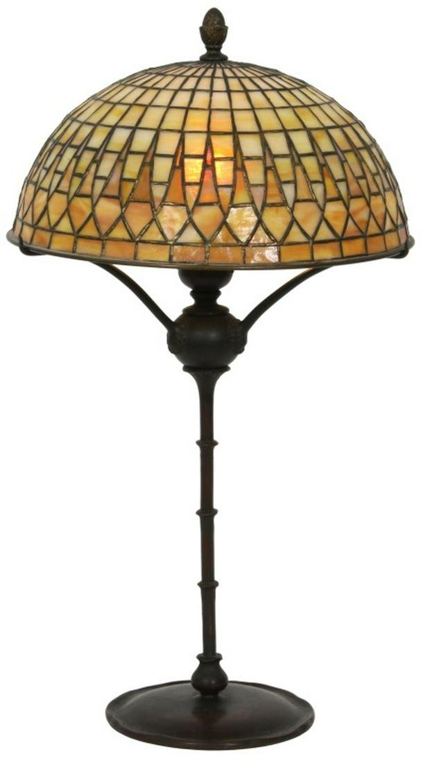 Tiffany Studios Geometric Table Lamp