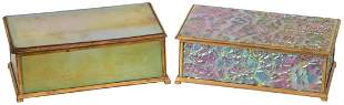Two Tiffany Furnaces Lidded Boxes