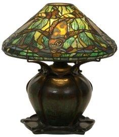 Tiffany Studios Leaded Glass Aquatic Fish Lamp