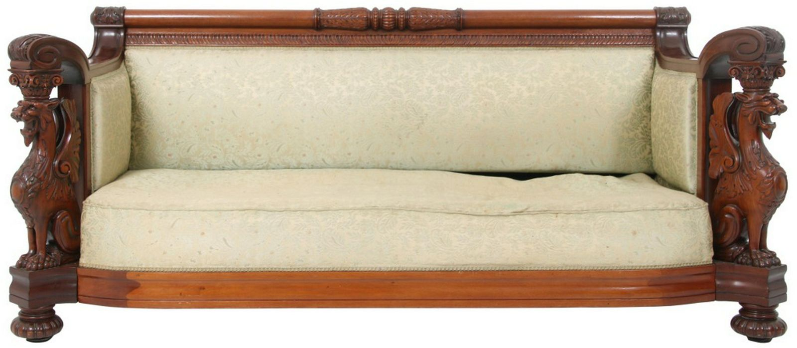 R J Horner Carved Mahogany Griffin Sofa Sep 14 2019 Fontaine S Auction Gallery In Ma
