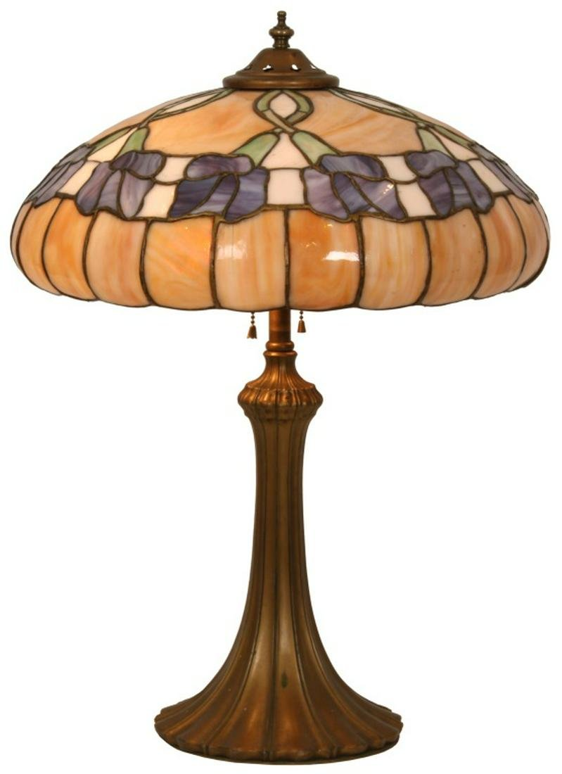 Attr. J.A. Whaley & Co. Morning Glory Table Lamp