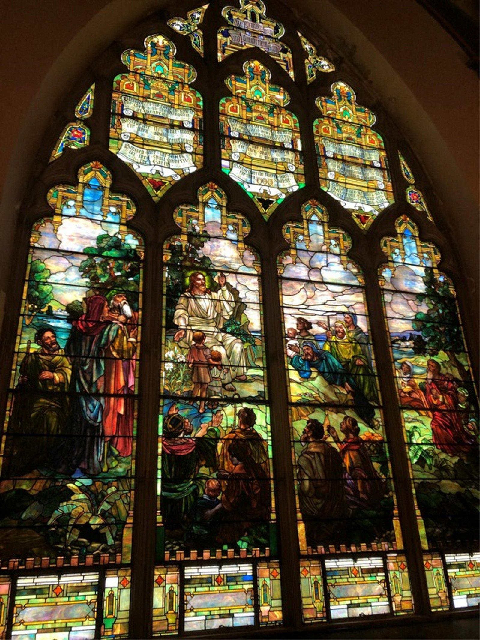 Attr. Joseph Lauber Monumental Stained Glass Window