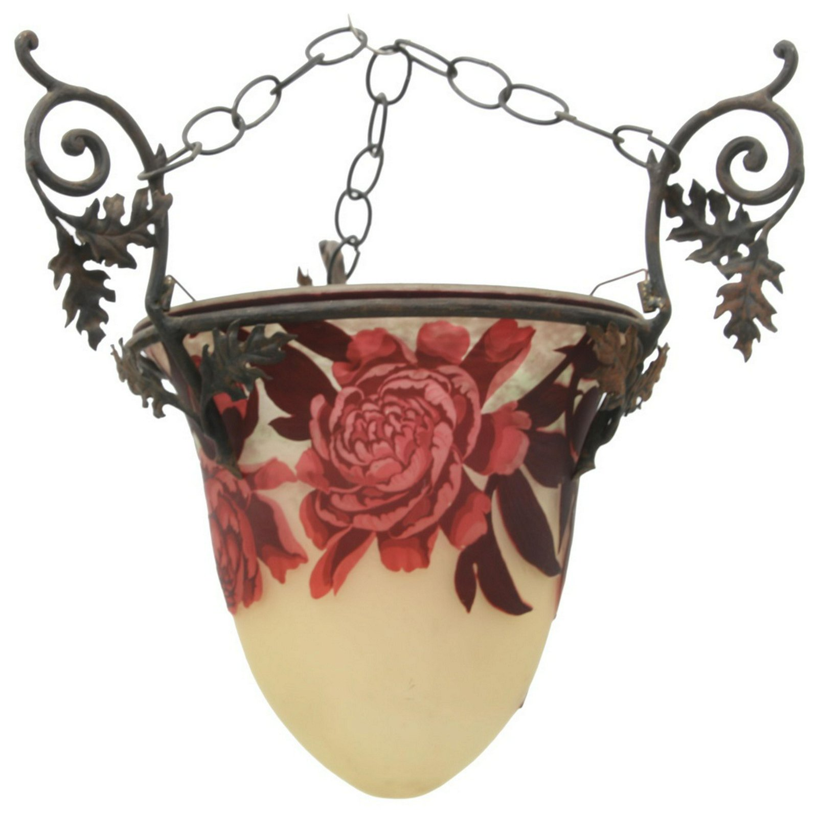 Muller Fres Luneville Cameo Glass Chandelier