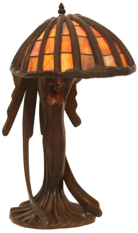 Art Deco Jeweled Figural Lamp