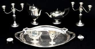 Eight Piece Silver Tea Service