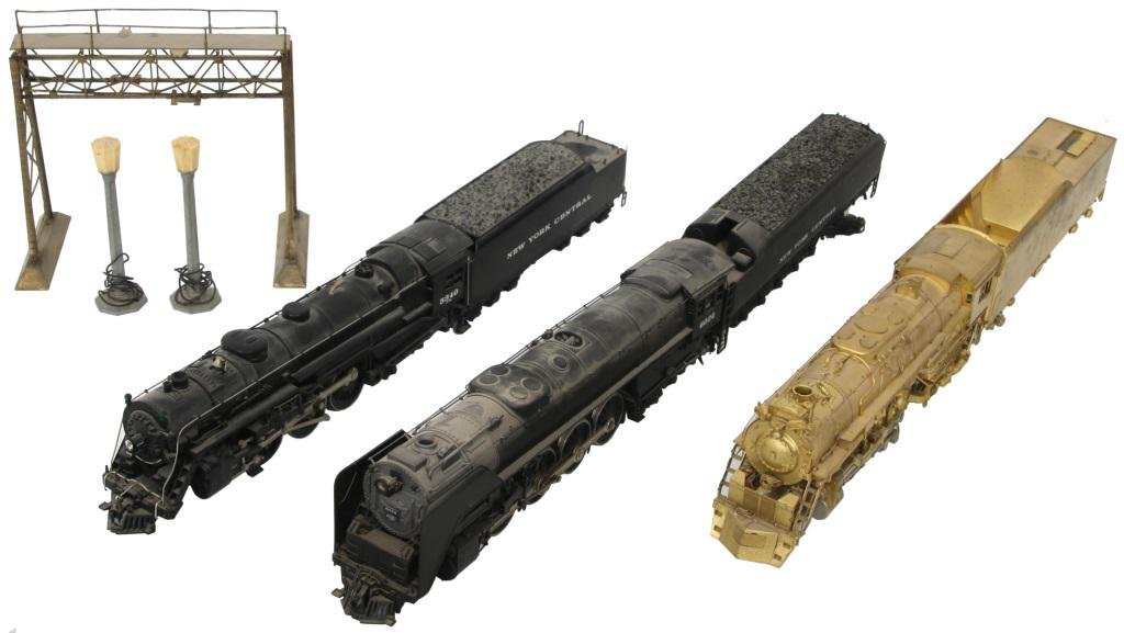Three Locomotives with Tenders & Accessories
