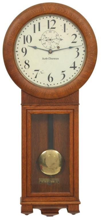 Oak Seth Thomas No. 2 Regulator Clock