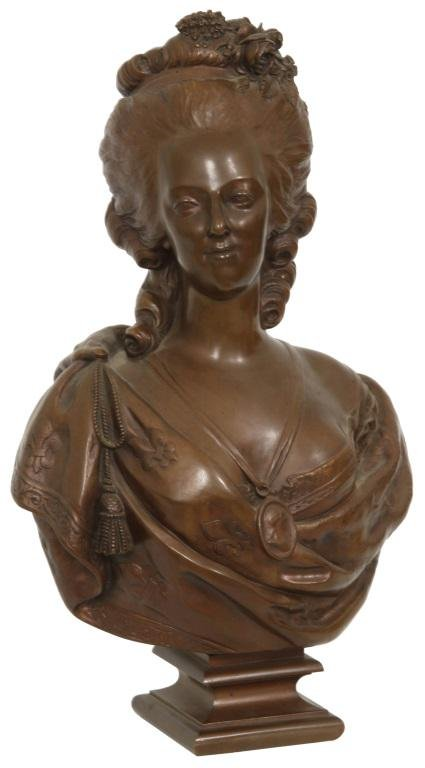 F. Barbedienne Bronze Bust of a Woman