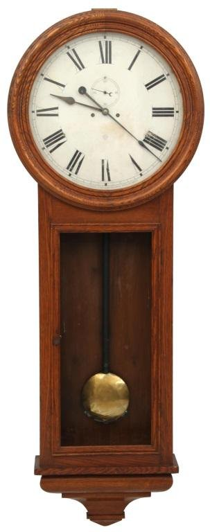 Ansonia Colonel Oak Weight Driven Regulator Clock