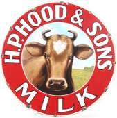H.P. Hood & Sons Milk Sign