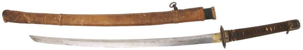 Leathered Sheathed Samurai Sword