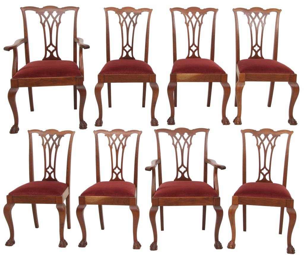 Set of 8 Chippendale Style Chairs