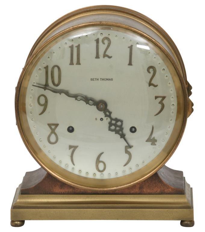 "Seth Thomas ""Denton"" Ship's Bell Clock"