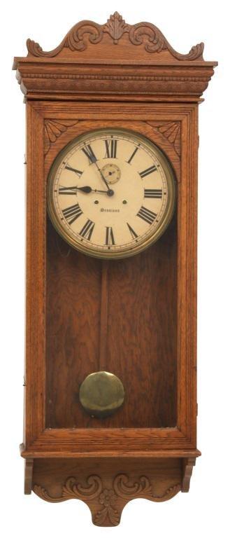 Sessions Oak Wall Regulator Clock