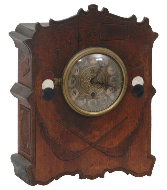 "Gilbert ""Cosey Corner, Pattern R"" Cabinet Clock"