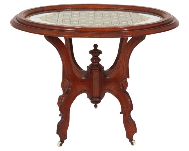 Parlor Table with Game Board Top