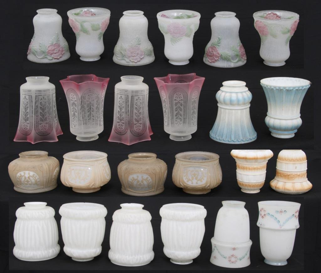 Group of 24 Glass Shades