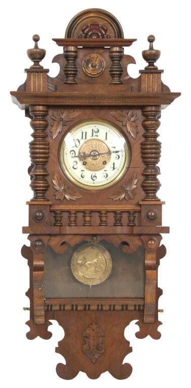 Walnut Wall Regulator Clock