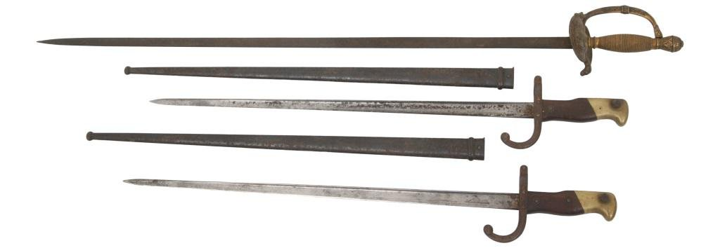 Two French Bayonets & Sword