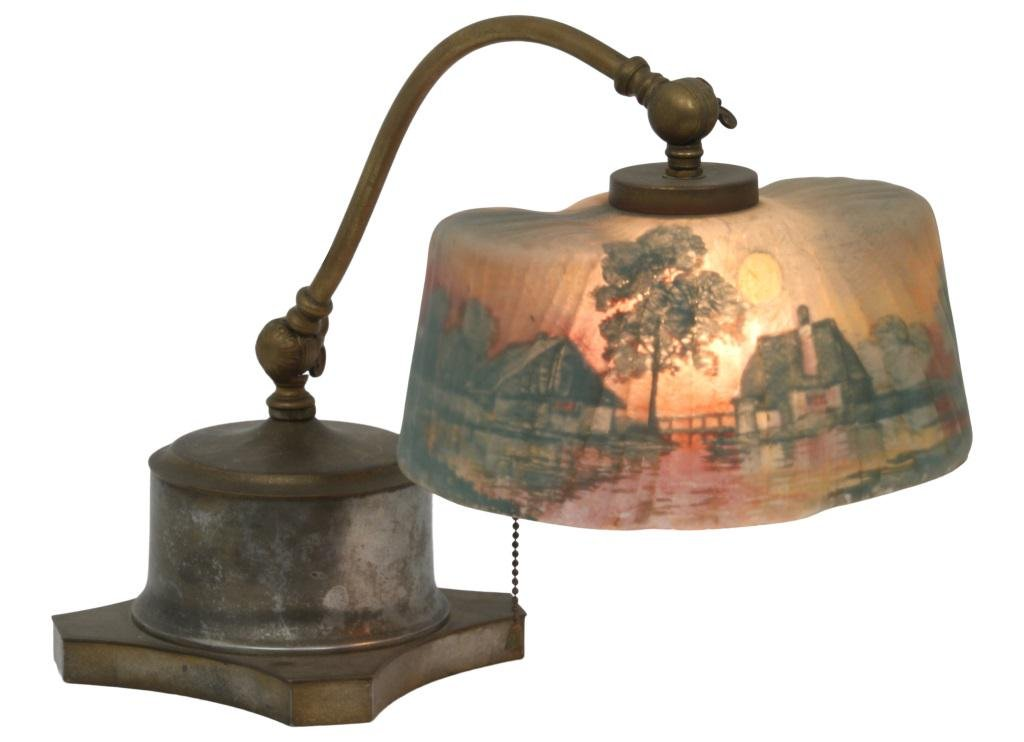 Pairpoint Piano Lamp with Scenic Shade
