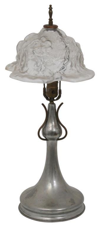 Pairpoint Puffy Rose Bonnet Boudoir Lamp