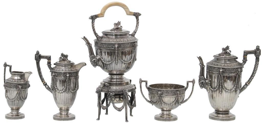 Mappin & Webb Sterling Silver Tea Set