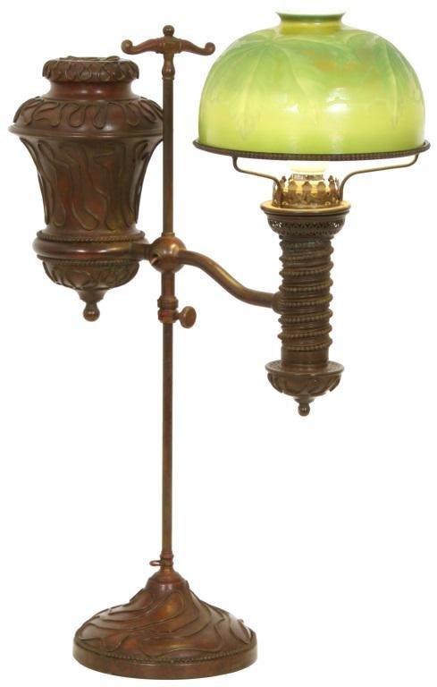 Tiffany Studios Favrile Glass Student Lamp