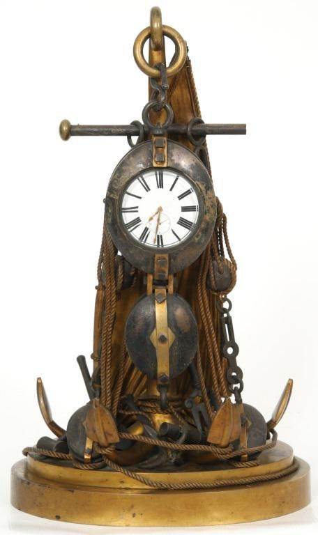 French Industrial Nautical Clock