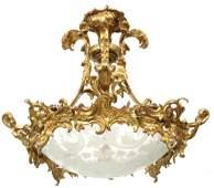 Elaborate French Bronze Chandelier