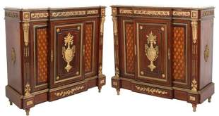 Pair of French Rosewood Credenzas