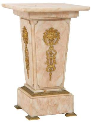 French Marble & Bronze Pedestal