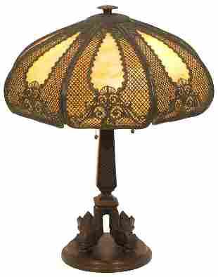Bradley & Hubbard Overlay Table Lamp