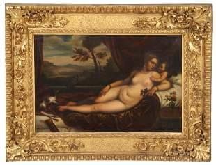 19th Century Reclining Nude Painting