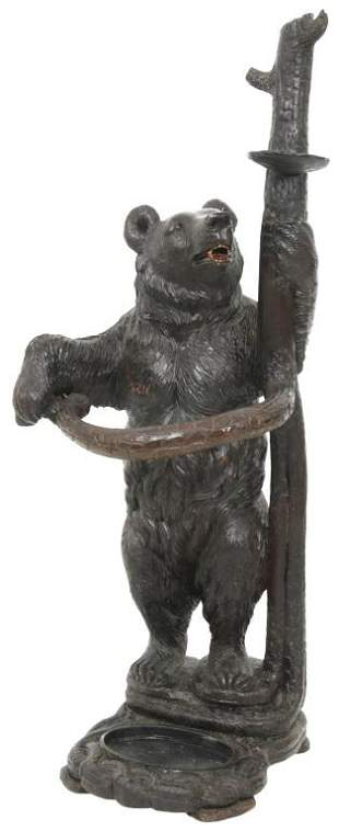 Black Forest Carved Bear Umbrella Stand