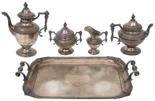 Continental .900 Silver Tea Set