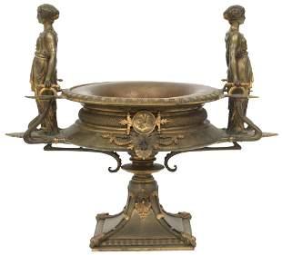 French Gilt Bronze Figural Centerpiece