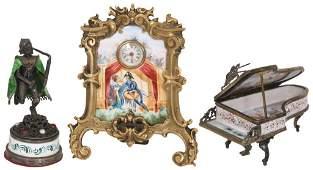 Austrian Bronze  Enamel Cabinet Pieces