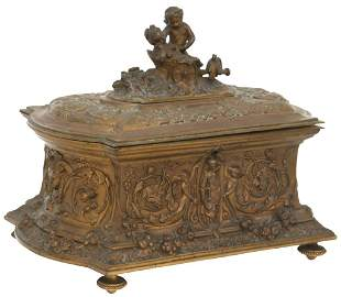 French Gilt Bronze Table Casket