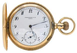 Patek Philippe 14K Gold Hunter Pocket Watch