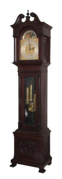 Seth Thomas Mahogany Tall Case Clock