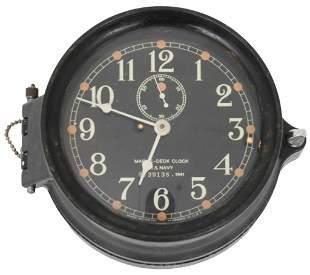 Seth Thomas 1941 WW2 U.S. Navy MK1 Deck Clock