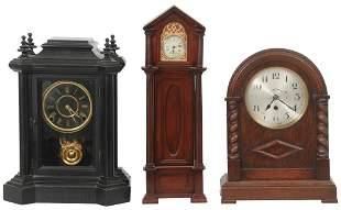 Group of Three Mantel Clocks