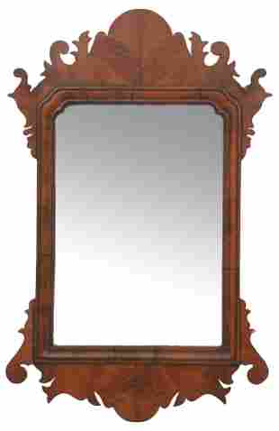American Chippendale Walnut Mirror