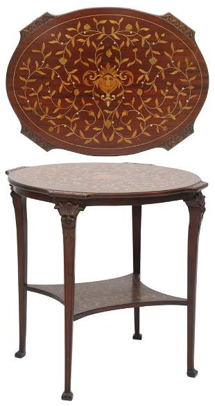 American Inlaid Mahogany Center Table