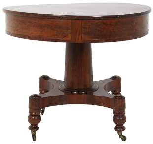 Empire Mahogany Center Table